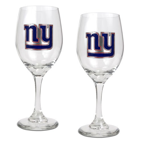 NFL New York Giants 14-Ounce Wine Glass (Set of Two) at Amazon.com