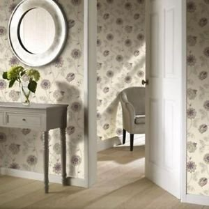 Gran Deco Jasmine Wallpaper - Plum by New A-Brend