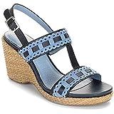 Rockport Women's Delyssa H Strap Dress Wedge Leather Sandals