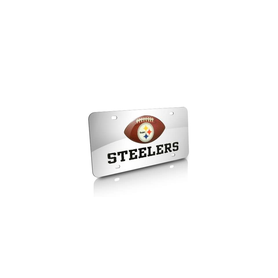 NFL Pittsburgh Steelers Football Acrylic License Plate