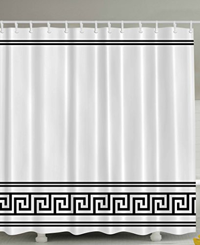 Greek Fabric Shower Curtain