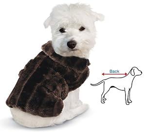 Amazon.com : Faux Fur Winter Dog Coat Mink Large : Pet