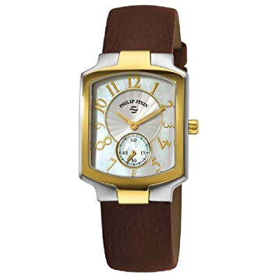 Philip Stein Women's 21TG-FW-CBR Classic Brown Calfskin Leather Strap Watch
