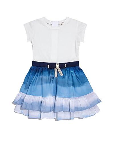 Fracomina Mini Vestido Blanco / Azul