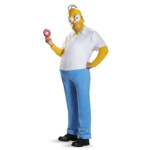 Disguise Men's Homer Deluxe Adult Costume, Multi, XX-Large