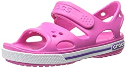 crocs Kids\' Crocband II Sandal (Toddler/Little Kid/Big Kid), Neon Magenta/Neon Purple, 12 M US Little Kid