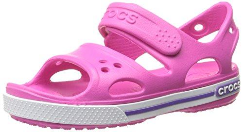CrocsCrocband II - Sandali Unisex per bambini, Rosa (Pink (Neon Magenta)), 27/28