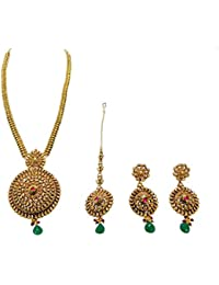 SatyamJewelleryNx Traditional Bridal Necklace Set For Women Fashion Jewellery (Wedding Season)