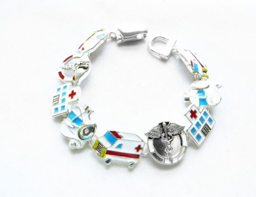 Icon Collection Silver - Plated Health Care Bracelet