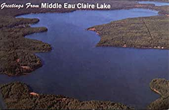 Middle Eau Claire Lake Scenic Wisconsin Original Vintage
