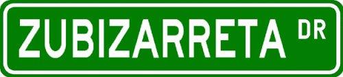ZUBIZARRETA Street Sign ~ Personalized Family Lastname Sign ~ Gameroom, Basement, Garage Sign Novelty** ALUMINUM - Buy ZUBIZARRETA Street Sign ~ Personalized Family Lastname Sign ~ Gameroom, Basement, Garage Sign Novelty** ALUMINUM - Purchase ZUBIZARRETA Street Sign ~ Personalized Family Lastname Sign ~ Gameroom, Basement, Garage Sign Novelty** ALUMINUM (The Lizton Sign Shop, Home & Garden,Categories,Patio Lawn & Garden,Outdoor Decor)