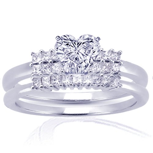 1.25 Ct Heart Shaped Diamond Wedding Engagement