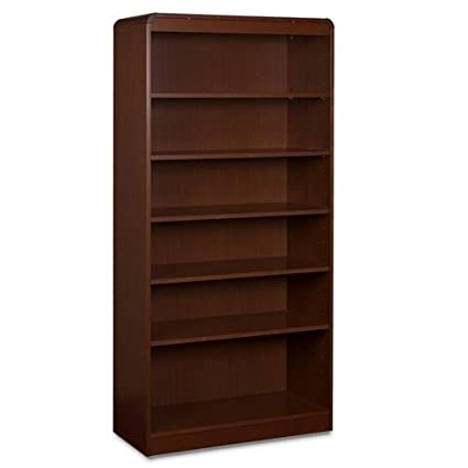 Lorell 6-Shelf Adjustable Bookcase, 36 by 12 by 72-Inch, Mahogany