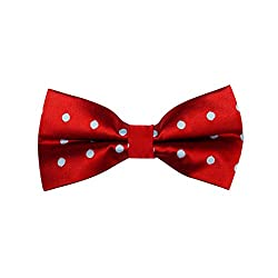 Westgate Red With White Polka Bow Tie