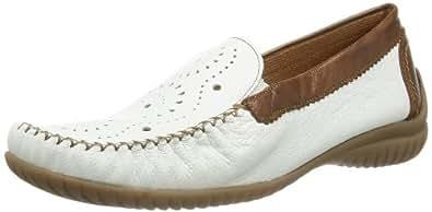 Gabor Shoes Gabor Comfort 86.094.50 Damen Mokassins, Weiß (weiss/copper), EU 44 (UK 9.5) (US 12)