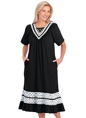 Dot Trim Patio Dress