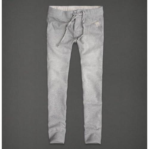 & Fitch Men's Super Skinny Sweatpants pant LIGHT HEATHER GREY Medium