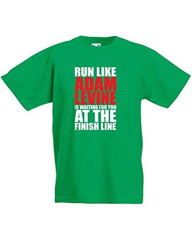 run-like-adam-levine-is-waiting-enfant-t-shirt-imprime-vert-blanc-rouge-12-13-ans