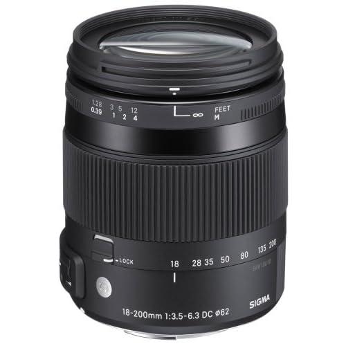 Sigma シグマ 885101 18-200mm F3.5-6.3 DC OS HSM フィクスト ズーム レンズ キヤノン EF-S カメラ ペンタックス KAF カメラ【並行輸入品】+NONOKUROオリジナルグッズ