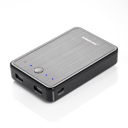 Poweradd™ Pilot E2 12000Mah High Capacity Dual Usb External Battery Pack Portable Power Bank Charger For Iphone 5S, 5C, 5, 4S, 4, Ipad Air, Mini2, Samsung Galaxy Tablets, S4, S3, S2, Note 2, Note 3, Google Nexus 5, Nexus 7 Fhd, Htc One, Blackbery, Lg, Mot