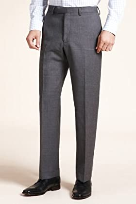 Autograph Pure Wool Flat Front Trousers [T15-0830A-S]
