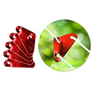 10pcs New Triangle Aluminum Alloy Adjustable Lock Tent Wind Rope Buckles Red
