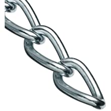 "Campbell 0719027 Hobby and Craft Twist Chain, Nickel Plated, #90 Trade, 0.056"" Diameter, 5 lbs Load Capacity, 82 Feet Mini Reel"
