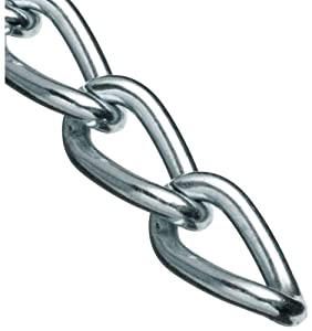 """Campbell 0719027 Hobby and Craft Twist Chain, Nickel Plated, #90 Trade, 0.056"""" Diameter, 5 lbs Load Capacity, 82 Feet Mini Reel"""