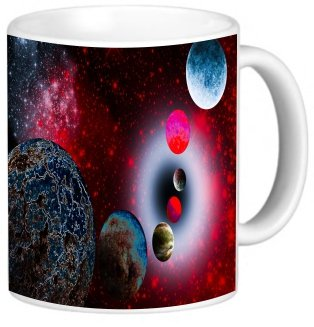 Rikki Knighttm Glowing Galaxy Design 11 Oz Photo Quality Ceramic Coffee Mug Cup - Fda Approved - Dishwasher And Microwave Safe