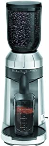 KRUPS GX610050 Professional Die Cast Conical Burr Stainless Steel Coffee Grinder with Grind Size Selector, Silver by KRUPS