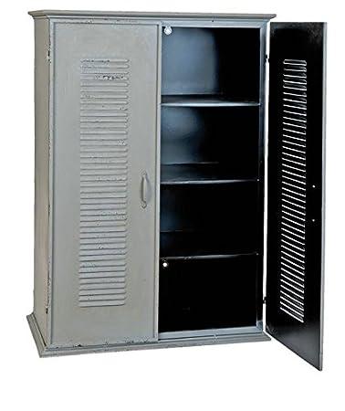 Clayre & Eef 5Y0235 armario de cómoda de metal de natural de 70 x 37 x 101 cm aproximadamente de la