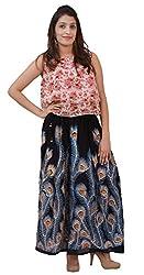 Carrol Long Ethnic Skirt-Black