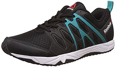 Reebok Women's Arcade Runner Black, Solid Teal and White Running Shoes - 4 UK/India (37 EU)(6.5 US)