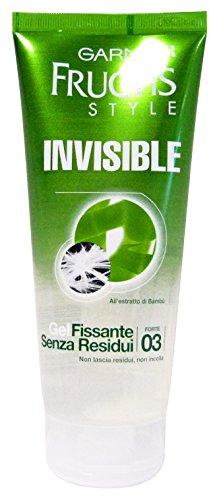 Garnier Fructis Invisible Gel Fissante senza Residui Fissaggio Forte, 200 ml
