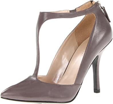Nine West Women's Blonsky Pump,Grey Leather,7.5 M US