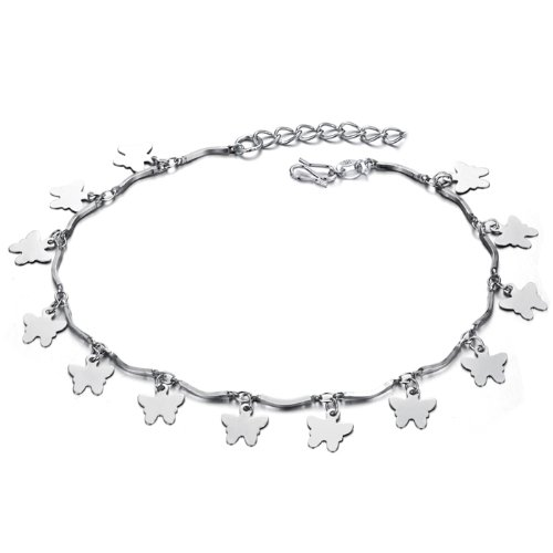 OPK South Korea Style New Fashion Charm Jewellery 18K White Gold Anklet Gp Fashion Jewellery Best Gift!