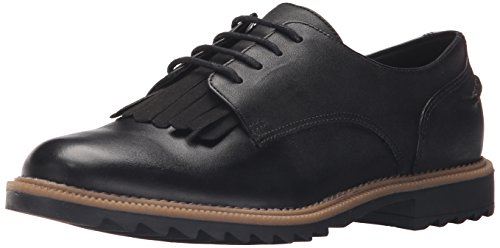 Clarks Women's Griffin Mabel Oxford, Black, 8 M US