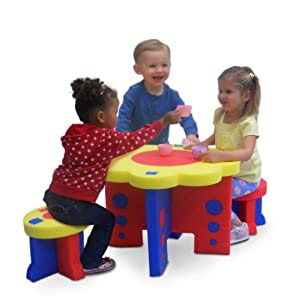 Amazon.com: Kids Adventure Sunflower Table and Chair Furniture Set ...
