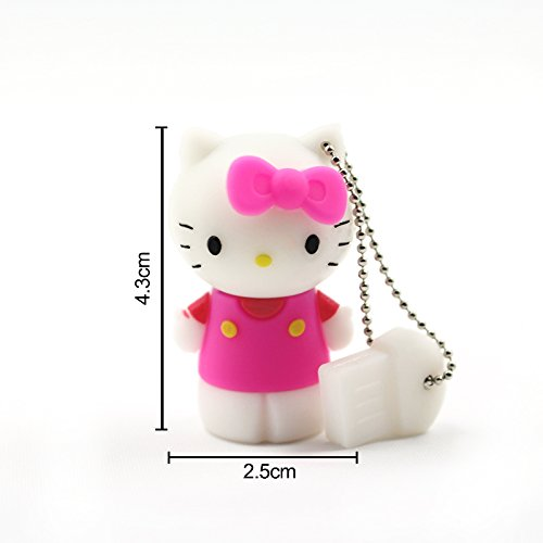 Cartoon Usb Flash Drive Pink Hello Kitty Pen Drive (8GB)