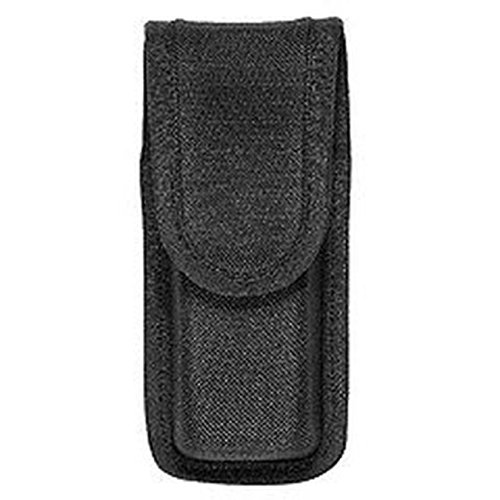 BIANCHI POLICE NYLON PATROLTEK 8003 SIZE 2 SINGLE MAG MAGAZINE CASE HOLDER POUCH BLACK WITH HIDDEN SNAP SIZE 2
