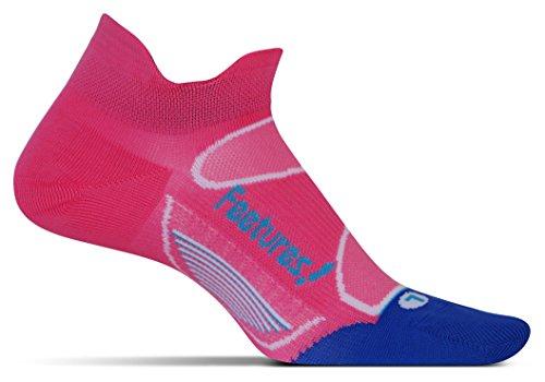 Feetures! Elite Ultra Light No Snow Tab Sock - Electric Pink/Hawaiian Blue Medium
