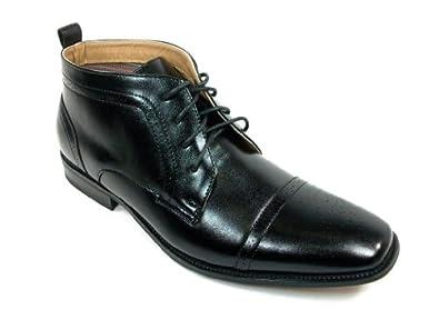Ferro Aldo Men's 806005A Classic Black Ankle Boots