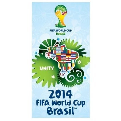 2014 FIFA World Cup BRASIL Soccer UNITY Beach Towel