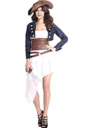 Dear-Lover Women's Cool Colonial Pirate Costume