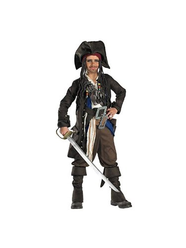 Captain Jack Sparrow Prestige Premium Costume - Large