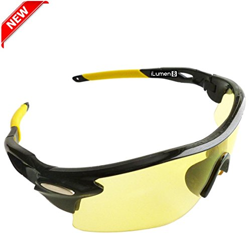 THE BEST blacklight flashlight UV 400 safety glasses yellow lens goggles by iLumen8. Helps see pet dog cat urine under black lights 100% ultraviolet light protection (Cool Safety Glasses Z87 compare prices)