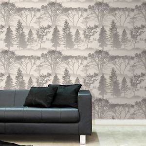 Graham and Brown Mirage Wallpaper - Grey by New A-Brend