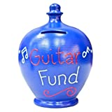 Terramundi Money Pot - Blue With Guitar Fund In Red And White S187
