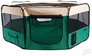 BUNNY BUSINESS Pet Dog Cat Puppy Play Pen Branded Fabric Soft Playpen, Small, 55 cm