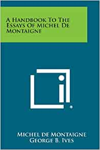 michel de montaigne essays amazon